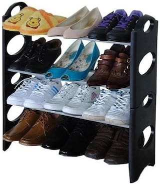 Repish Plastic Shoe Rack ( Black )