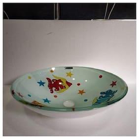 Resin Stone Bowl wash Basin Beautiful Fish design