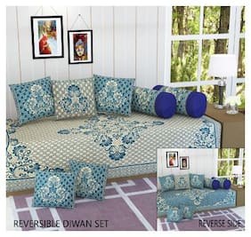 Fresh From Loom Velvet Embroidered Single Size Diwan Sets - Pack of 8