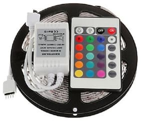 RGB Remote Control Plastic LED Strip Light Colour Changing for Diwali and Christmas Lighting (Multicolour)