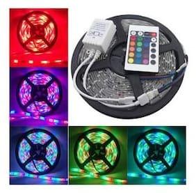 Diwali decorative 5M RGB SMD LED Strip Tape Light TV Backlilghting Kit + Remote Control [Set of 1]