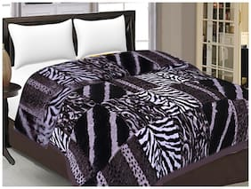 Rian Ultra Soft Warm Double Bed Mink Blanket for Winter Tiger Print (220 X 240 cm) (Double Bed) (Multi)