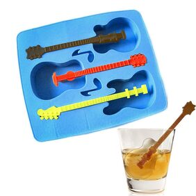 RIANZ Silicone Ice Tray Guitar Shape Mould for Kitchen Tools/Chocolate / ice Mould, 1 Pc