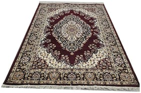 """Rida Handloom Brand New High Quality Carpets for living room and bedroom(0.5""""Height 6*8 feet 180x235CM)-Brown"""