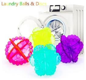 Right Traders 4pcs Reusable Washing Laundry Dryer Ball Fabric Softener Helper Cleaner