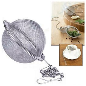 Right Traders 1pc Stainless Steel Round Tea Leaf Herbal Spices Strainer Filter Ball Infuser Tools