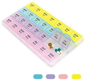 Right Traders 7 Day Mini Medicine Pill Box Organiser (Pack of 1)