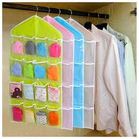 Right traders Multifunction 16 Pockets Socks Shoe Toy Underwear Sorting Storage Bag Door Wall Hanging Closet Organizer