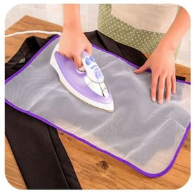 Right Traders Ironing Mesh No Melt Pressing Cloth for Easy Ironing and Protection (Pack Of 3)