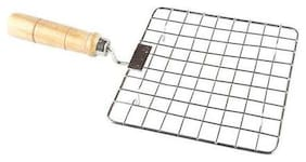 Right Traders Stainless Steel Square Papad Jali With Handle pack of  1