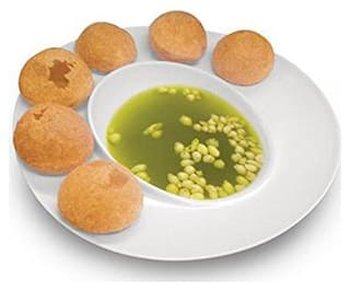 Right Traders Pani Puri Serving Melamine Dish Bowl Plate - pack of 1 white