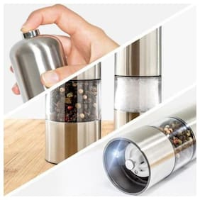 Right Traders 1pc round pepper grinder Electric Mill in Stainless Steel, Salt Mill