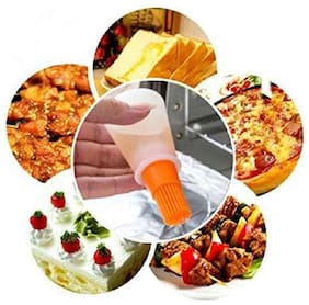 Right Traders Silicone Baking Cake Butter Bread Pastry Liquid Oil Pen Tube Brush BBQ Tool (Pack Of 1)