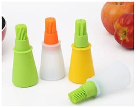 Right Traders 1pc Grill Oil Bottle Brushes Tool Heat Resisting Silicone BBQ Basting Oil Brush Barbecue Cooking Pastry Oil Brushes Color In Random