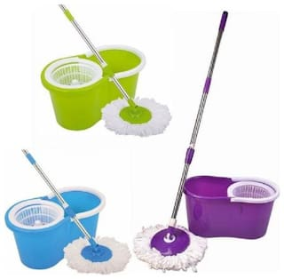 Right Traders A single Established 360° Spinning Rewrite Wonder Cleaner Spinner Steamer Effortless Floors Clean Container Floors Basket Sponge mops Domestic Cleaning up Style (Associate Color)