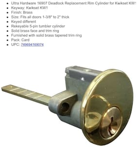 Rim Cylinder Ulta 16907 For Night Latches And Jimmy Proof Deadlocks Brass KW1