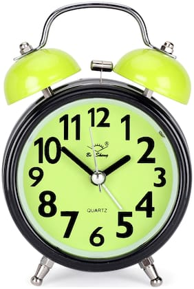 Rise N Shine Steel Analog Alarm clock ( Set of 1 )