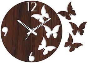 Rise N Shine Wood Analog Wall clock ( Set of 1 )
