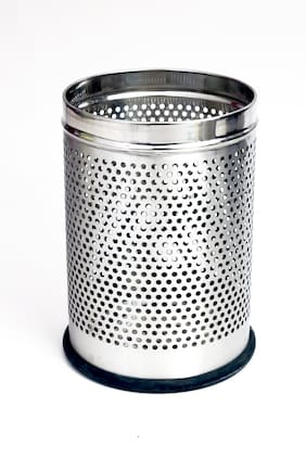 Rishan Lifestyle Stainless Steel Perforated Dustbin 7 L