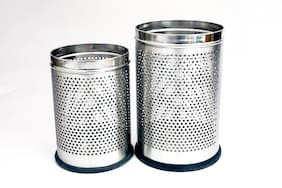 Rishan Lifestyle Stainless Steel Perforated Dustbin 5/11 L