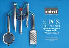 Ritu Stainless Steel 5 pcs Utility Set