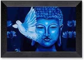 Ritwika'S Blue Budhha Mattetextured Frame Painting
