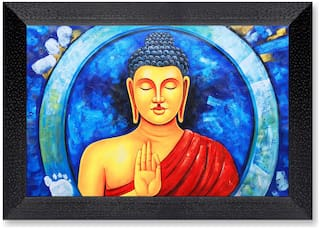 Ritwika'S Budhha Meditation Mattetextured Frame Painting