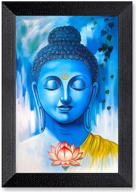 Ritwika'S Budhha Meditation Matte Textured Frame Painting