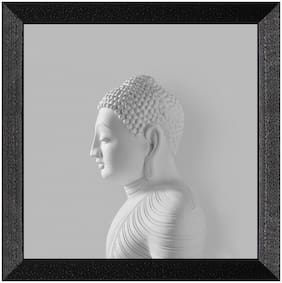 Ritwika'S Budhha Face Meditation Mattetextured Frame Painting