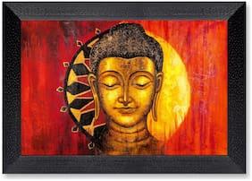 Ritwika'S Budhha Face Meditation Modern Art Mattetextured Frame Painting