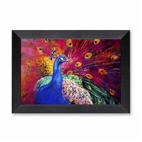Ritwika'S Digital Painting. Beautiful Multicolored Peacock Modern Art