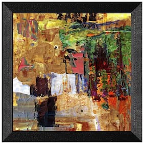 Ritwika'S Digital Reprint Abstract Art Painting Mattetextured - Full Of Colors