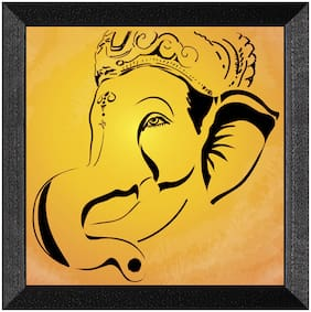 Ritwika'S Ganesha Multicolored Religious Mattetextured Frame Painting