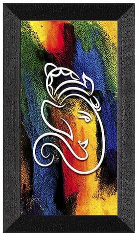 Ritwika'S Ganesha Multicolored Religious Modern Art Mattetextured Frame Painting