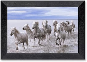 Ritwika'S Horse Running Wall Art Mattetextured Frame Painting