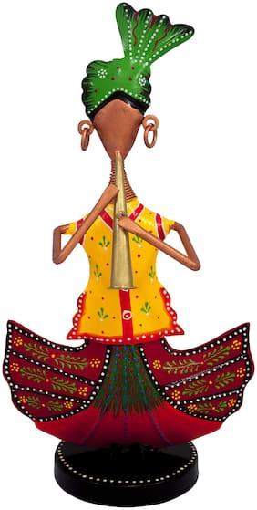 Ritwika'S Iron Sitting Musician Figurine Decorative Showpiece