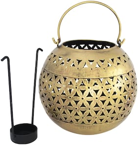 RITWIKA'S Iron Golden Tea light holder