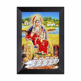 Ritwika'S Laxmi Religious Framed Painting Abstarct Art Matte Textured