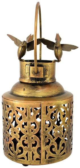 RITWIKA'S Iron Golden Candle holder