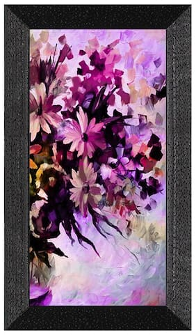 Ritwika's Multicolor Nature Flowers Modern Art Painting With Wood Frame