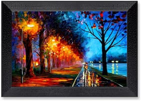 Ritwika'S Multicolor Wall Art Painting Mattetextured Frame