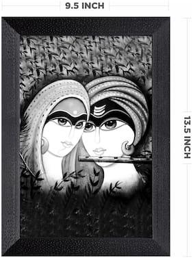 Ritwika'S Radha Krishna Religious Mattetextured Wall Art Painting Frame