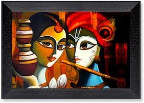 Ritwika'S Radha Krishna Fcae Religious Modern Art Mattetextured Frame