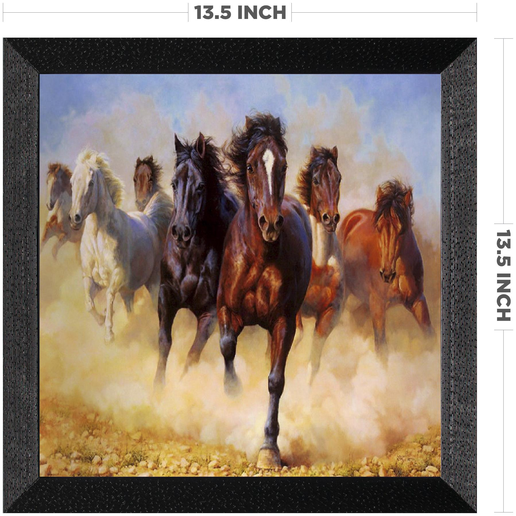 Buy Ritwika S Seven Horse Running Wall Art Matte Textured Frame Painting Online At Low Prices In India Paytmmall Com