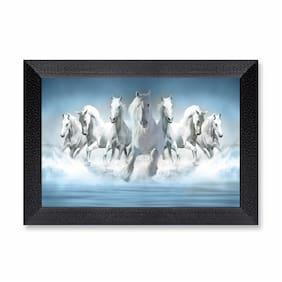 Ritwika'S Seven Horse Running Wall Art Mattetextured Frame Painting