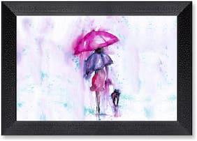 Ritwika'S Umbrella Modern Art Mattetextured Painting