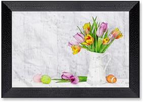 Ritwika'S Wall Art Mattetextured Frame Flowers Painting