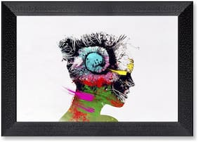 Ritwika'S Women Face Digital Art Mattetextured Frame Painting