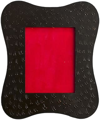 RITWIKA'S Wood Black & Red Single frame ( Set of 1 )