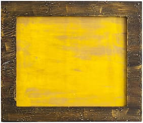 RITWIKA'S Wood Yellow Single frame ( Set of 1 )